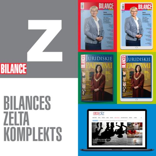 BILANCES ZELTA KOMPLEKTS