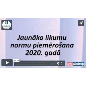 likumu piemērošana 2020