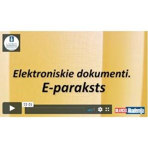 Elektroniskie dokumenti e-paraksts