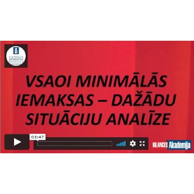 VSAOI minimālās iemaksas